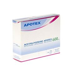 Acetylcysteine Apotex 600mg 14 Sachets