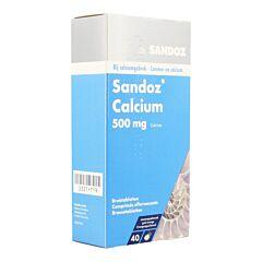 Sandoz Calcium 500mg Goût Orange 40 Comprimés Effervescents