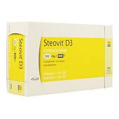 Steovit D3 Citron Calcium + Vitamine D3 500mg/400Ui 168 Comprimés à Croquer