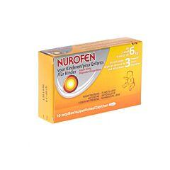 Nurofen Enfants 6kg / 3 mois Suppositoires 60mg 10 Pièces