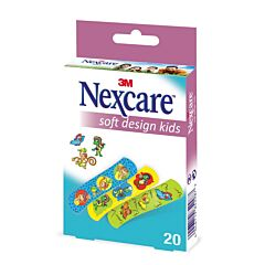 Nexcare Soft Design Kids Assortiment 19x72mm 20 Pansements
