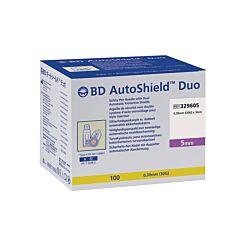 BD Autoshield Duo Aiguille de Sécurité avec Double Système dAuto-Verrouillage pour Stylo Injecteur 5mm 100 Pièces