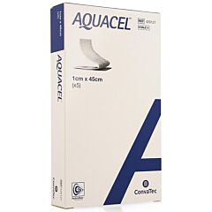 Aquacel Verband Hydrofiber + Versterking 1x45cm 5 Stuks