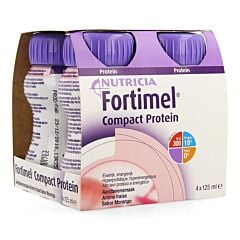 Fortimel Compact Protein Fraise Bouteille 4x125ml