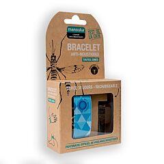 Manouka Bracelet Anti-Moustiques Bleu 1 Pièce