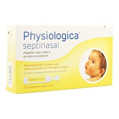 Physiologica Septinasal Neusspoeling Babys & Peuters 20 Unidoses x 5ml