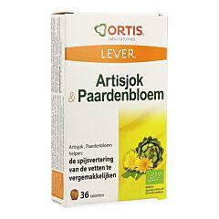 Ortis Foie Artichaut & Pissenlit Bio 36 Comprimés