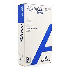 Aquacel Extra Verband Hydrofiber + Versterking 4x10cm 10 Stuks