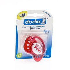 Dodie Fopspeen Jongen Silicone Ring +18M 1 Stuk