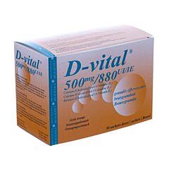D-Vital 500mg/880UI Calcium/Vitamine D3 Orange 30 Sachets