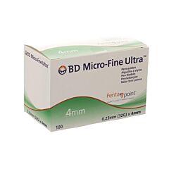 BD Micro-Fine Ultra Pennaald 4mm 32g Easyflow 100 Stuks