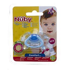 Nuby C Sucette Pp Silicone Geo Ortho 6 18m
