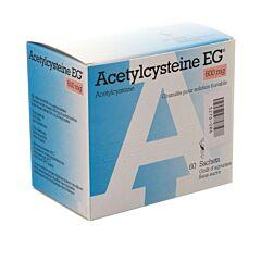 Acetylcysteine EG 600mg 60 Sachets