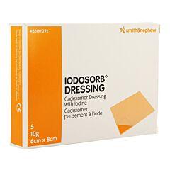 Iodosorb Dressing 10g 6x8cm 5 Stuks