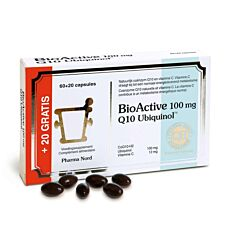 Pharma Nord BioActive Q10 100mg 60 Gélules + 20 Gélules Gratuites