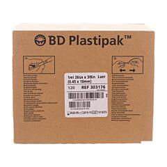 BD Plastipak Spuit + Naald Tuberculine 1ml+26g 3/8 120 Stuks