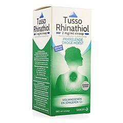 Tusso Rhinathiol Siroop Droge Hoest Zonder Suiker 180ml