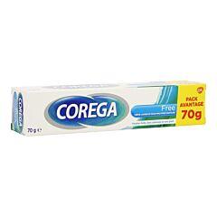 Corega Free Crème Adhésive pour Prothèse Dentaire Tube Pack Avantage 70g
