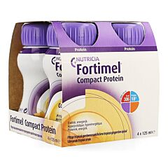 Fortimel Compact Protein Tropical Gingembre Epicé Bouteille 4x125ml