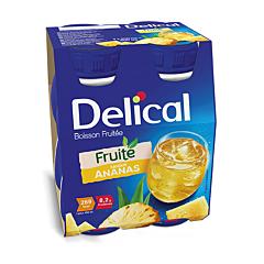 Delical Boisson Fruitée Ananas Bouteille 4x200ml
