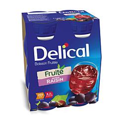 Delical Boisson Fruitée Raisin Bouteille 4x200ml