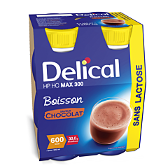 Delical Max.300 Chocolat Bouteille 4x300ml