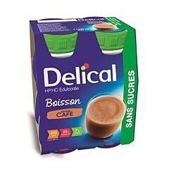Delical Boisson HP-HC Edulcorée Sans Sucres Café Bouteille 4x200ml