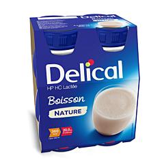 Delical Boisson Lactée HP-HC Nature Bouteille 4x200ml