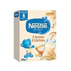 Nestlé Baby Cereals 5 Céréales 6m+ 250g