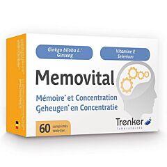 Memovital Mémoire & Concentration 60 Comprimés