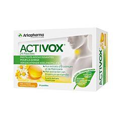 Arkopharma Activox Pastilles Adoucissantes pour la Gorge Miel Citron 24 Pièces