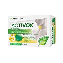 Arkopharma Activox Pastilles Adoucissantes pour la Gorge Menthe Eucalyptus 24 Pièces