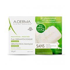 A-Derma Pain Dermatologique au Lait dAvoine Rhealba PROMO Duo 2x100g 2ème à -50%