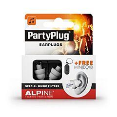 Alpine PartyPlug Transparante Oordopjes 1 Paar