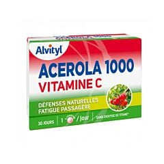 Alvityl Acérola 1000 Vitamine C 30 Comprimés à Croquer