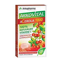 Arkopharma Arkovital Acerola 1000 Vitamine C Naturelle 30 Comprimés à Croquer