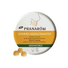 Pranarôm Aromaforce Gommes Adoucissantes Miel & Citron Bio 45 Pièces