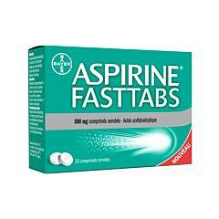 Aspirine FastTabs 500mg 20 Comprimés Enrobés