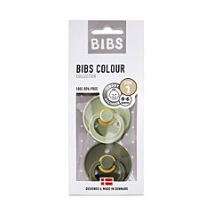 Bibs Sucettes 0-6m Sage/Hunter Green 2 Pièces