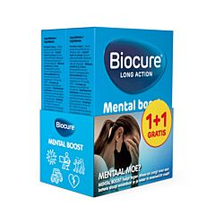 Biocure Mental Boost Volwassenen 30 Tabletten PROMO 1 + 1 GRATIS