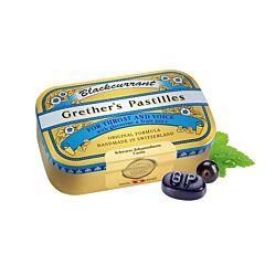Grethers Pastilles Blackcurrant Cassis Sans Sucre Boîte 110g
