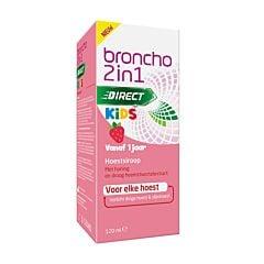 Broncho 2-en-1 Kids Sirop Toux Enfants Goût Fraise Flacon 120ml