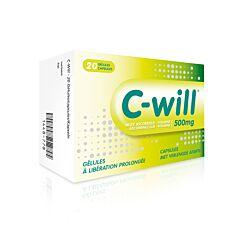 C-Will Vitamine C 500mg 20 Gélules