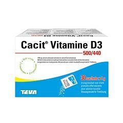 Cacit Vitamine D3 500mg/440ui Granulés Effervescents 30 Sachets