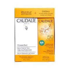 Caudalie Coffret Vinoperfect Sérum Eclat Anti-Taches 30ml + GRATUIT Crème Solaire Visage Anti-Rides IP50 25ml