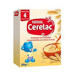 Nestlé Cerelac Céréale Biscuitée pour Panades de Fruits Sans Gluten 4m+ 300g