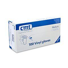 CMT Witte Vinyl Handschoenen Zonder Poeder - Medium - 100 Stuks