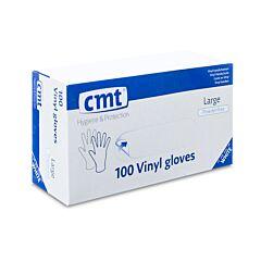 CMT Witte Vinyl Handschoenen Zonder Poeder - Large - 100 Stuks