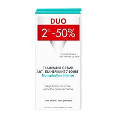 Vichy Déodorant Traitement Anti-Transpirant Crème 7 jours PROMO Duo 2x30ml