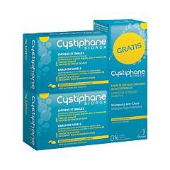 Cystiphane Biorga Cheveux & Ongles 2x120 Comprimés + GRATUIT Shampooing Anti-Chute de Cheveux 200ml